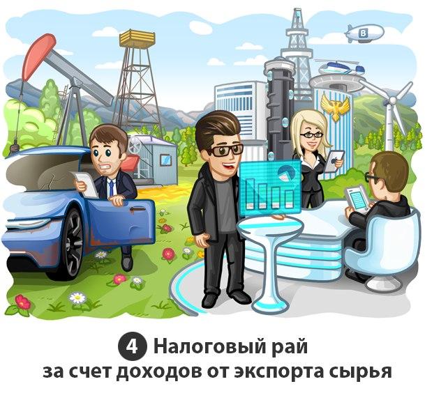 Налоговый рай за счет доходов от экспорта сырья